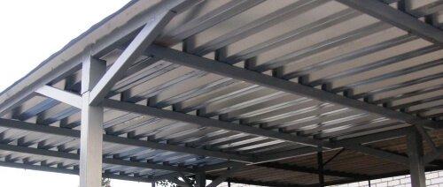 Применение профнастила НС-35 на крышу